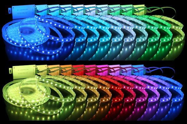 LED strip, colors