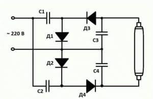 схема подключение ламп без стартера