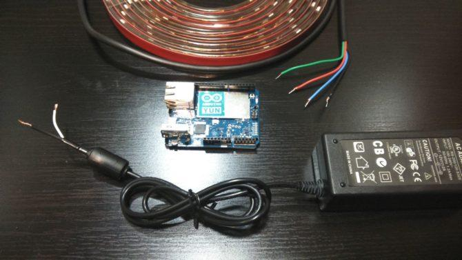 Connection, Arduino, LED