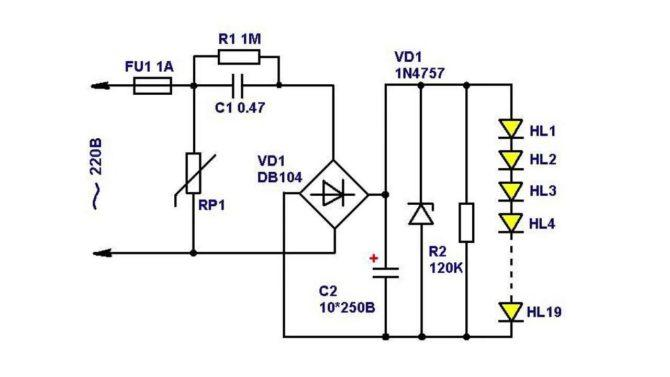 драйвер, LED