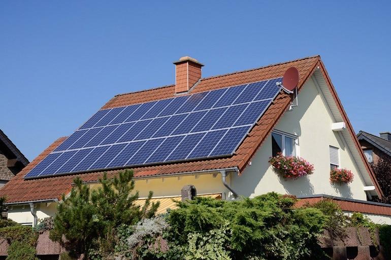solar battery, house