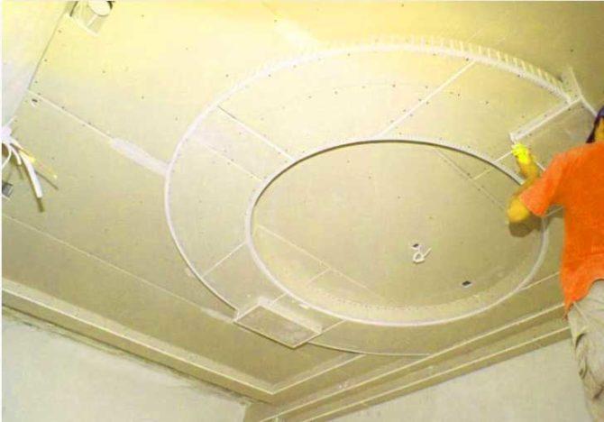 Как сделать потолок с гипсокартона с подсветкой