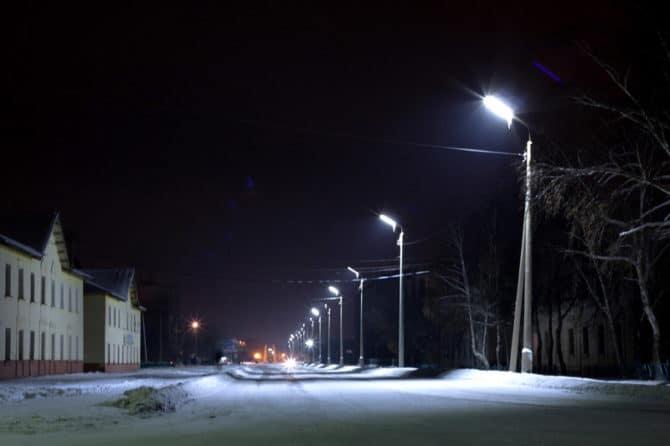 Улица, лампы ДРЛ