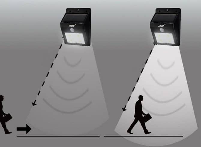 Светильник и датчик движения