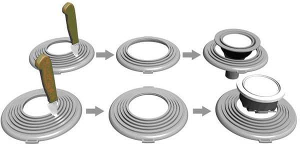 Вырезание диаметра для точки