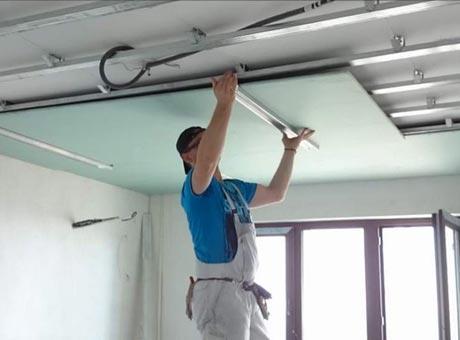 Монтаж потолка
