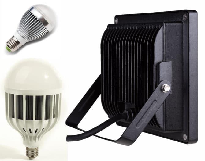 Радиатор в лампочках