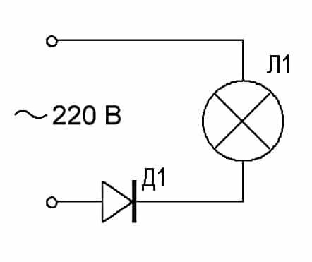 схема, продление службы лампочки