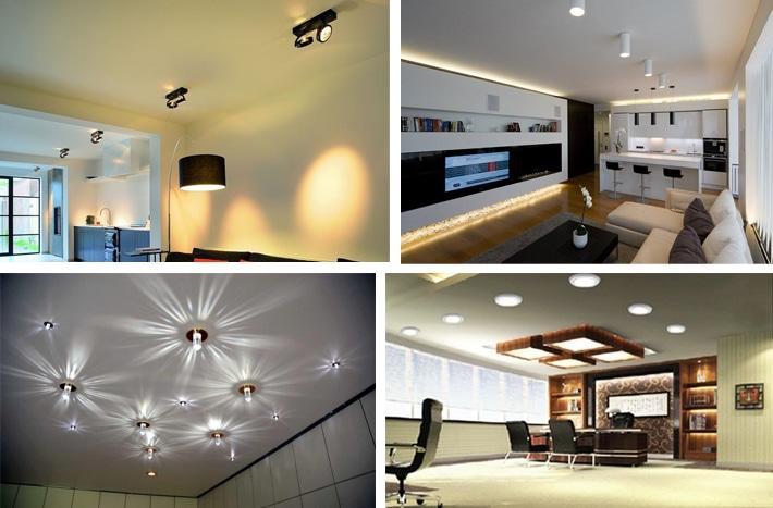 накладные светильники на потолке
