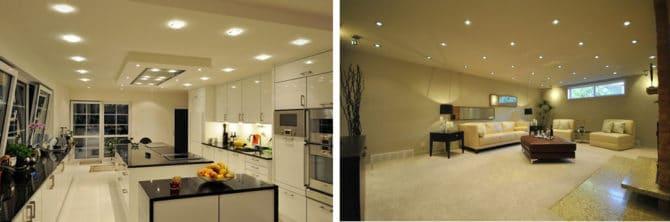 Организация освещения на кухне
