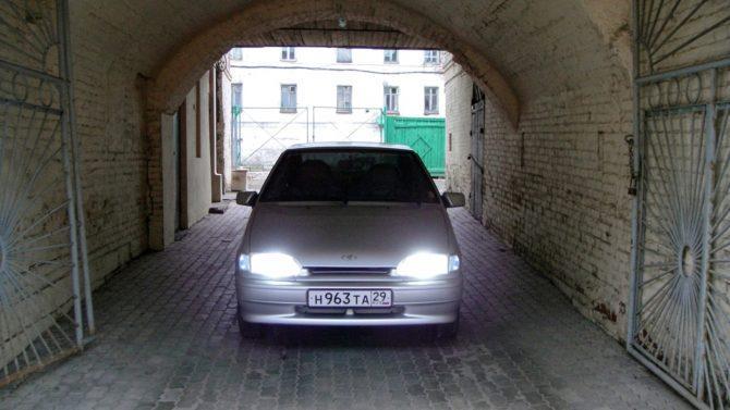 белый свет h11