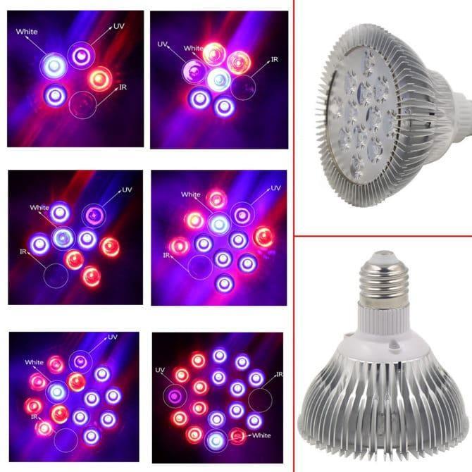 фитолампа с ИК и УФ-светодиодами