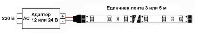 Схема подключения к одной СЛ
