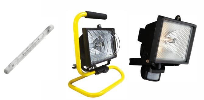 Линейная галогенная лампа и прожекторы