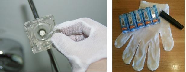 перчатки при замене галогенных ламп