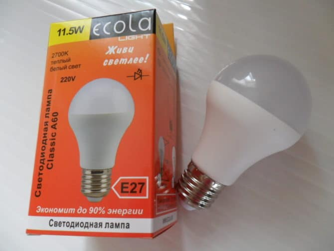 лампа ecola