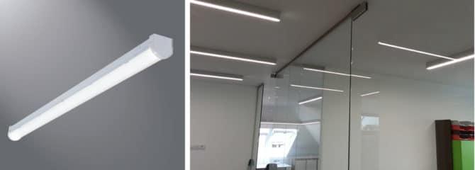 накладной линейный светильник