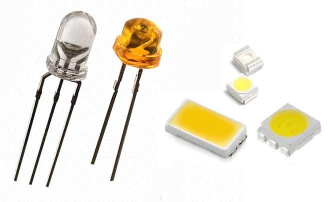Обычные и SMD светодиоды