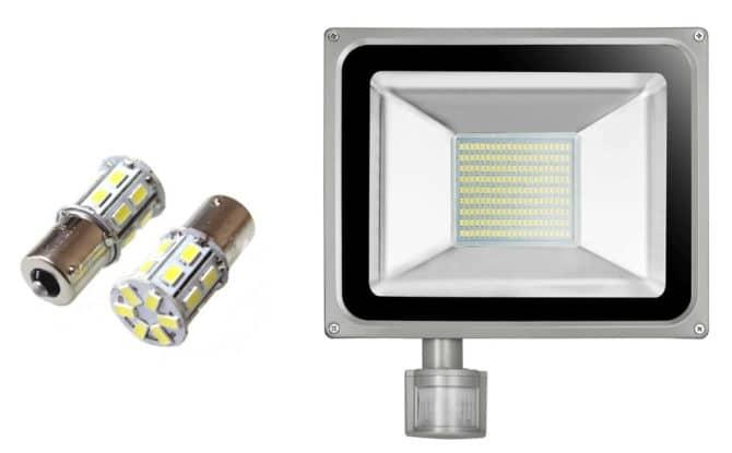 лампа на 5630 и прожектор на 5730