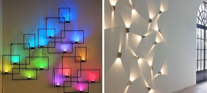 Пример декоративного освещения
