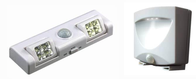 светильники с датчиками движения
