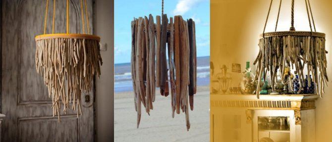 из деревянных веточек
