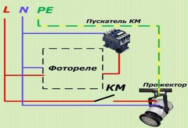 Схема в цепь коммутационных аппаратов