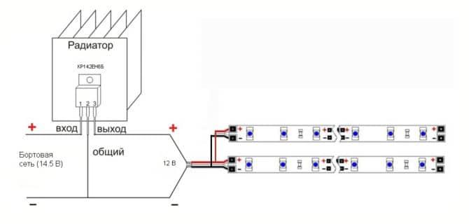 Схема подключения кластерных глазок