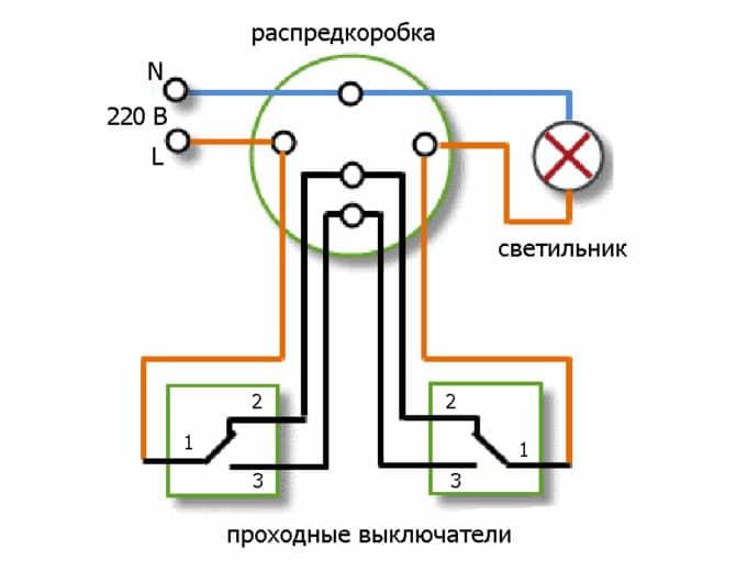 Практическая схема из двух мест
