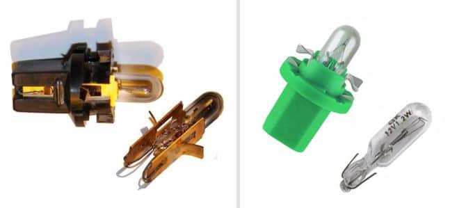 лампочки для подсветки панели приборов Приоры