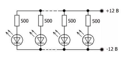 схема подключения подсветки приборов ВАЗ 2107