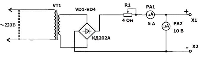 схема зарядного устройства шахтерского фонаря
