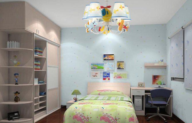 детская комната, слабый свет