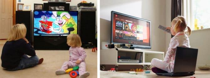 дети перед телевизором