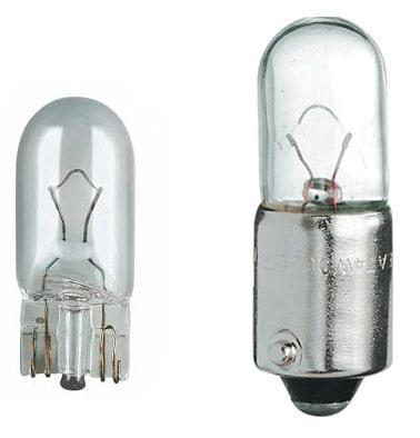 лампа W5W и T4W