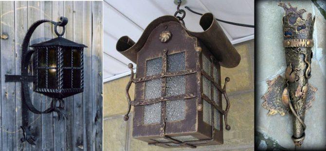 кованые фонар