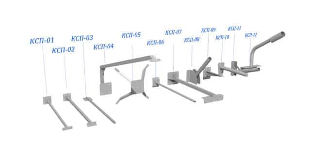 Кронштейны для вертикальной поверхности