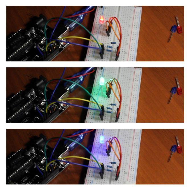 Пример работы RGB