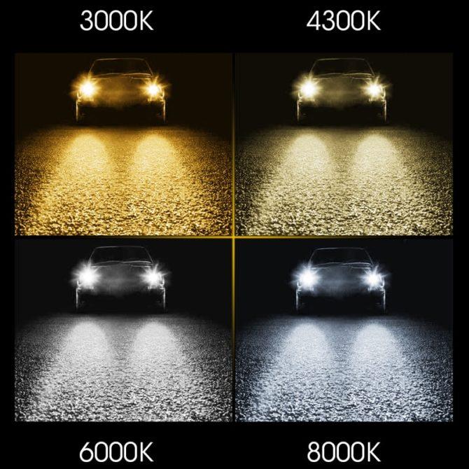 Различия в свечении ламп