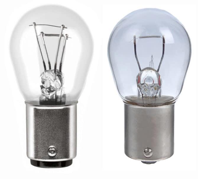 Лампы P21/5W и P21W
