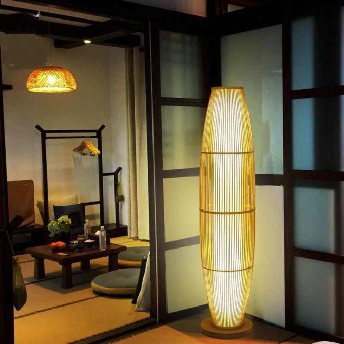 Потолочная люстра в японском стиле