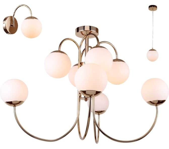 Выбираем потолочные светильники и люстры в спальню в стиле модерн