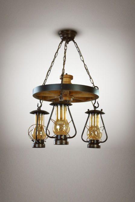 Красивые люстры в деревенском стиле