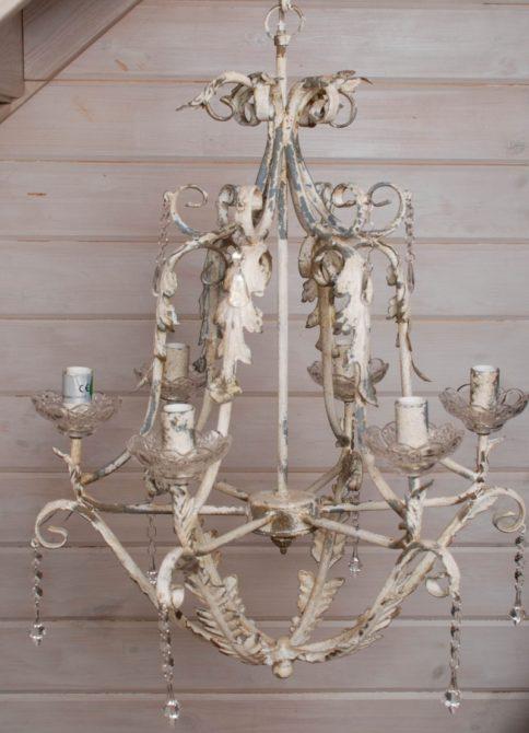 Люстры и светильники на кухню в французском стиле прованс