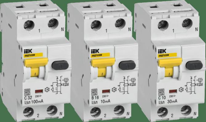 Дифавтомат – УЗО и автоматический выключатель в одном корпусе