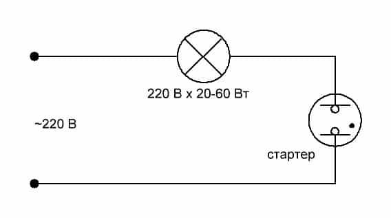 проверка стартера (схема)