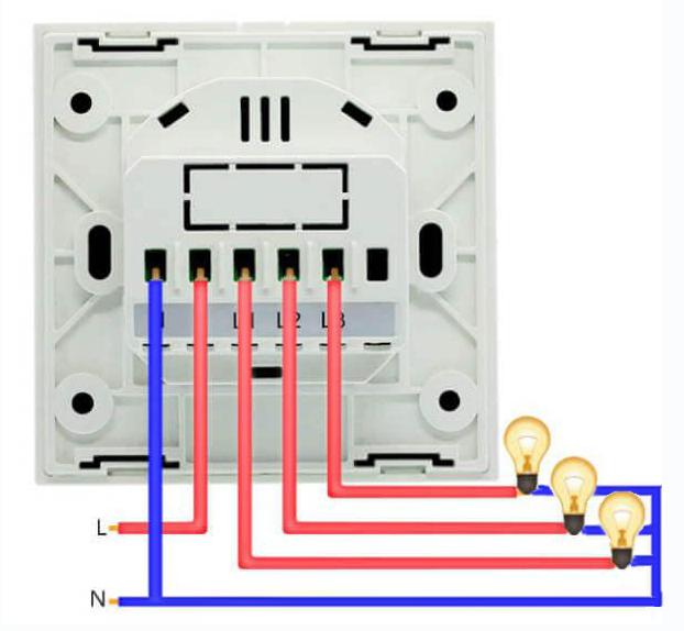 Схема подключения Wi-Fi выключателя