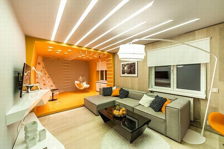 Как сделать освещение в гостиной