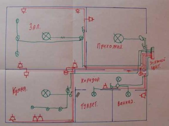 Что нужно знать о разводке электрики в квартире по потолку
