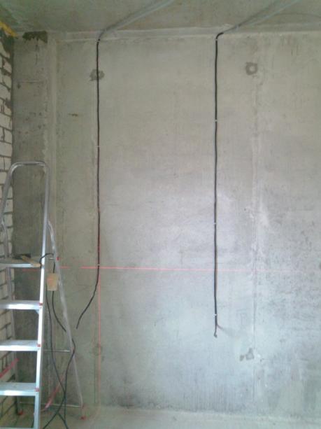 проводка по монолитной стене